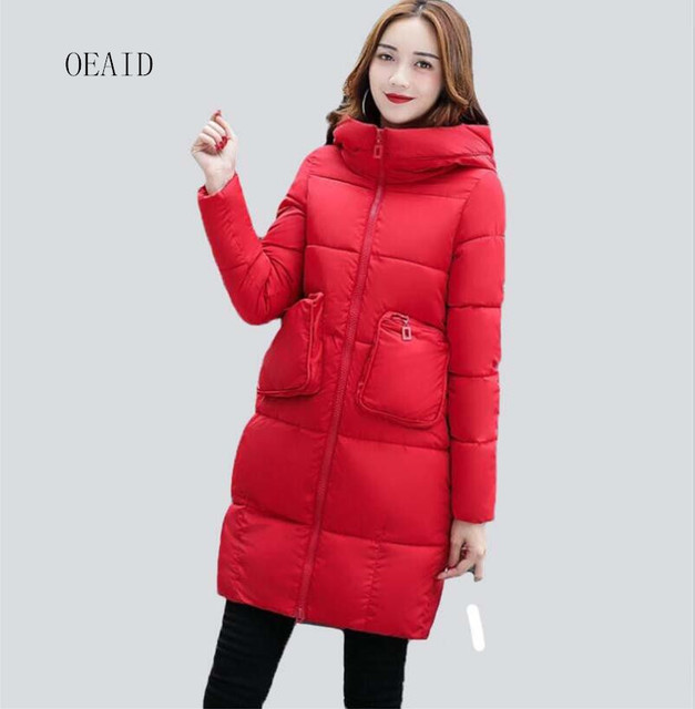 Aliexpress.com : Buy New women's parkas black outerwear 2017 ...