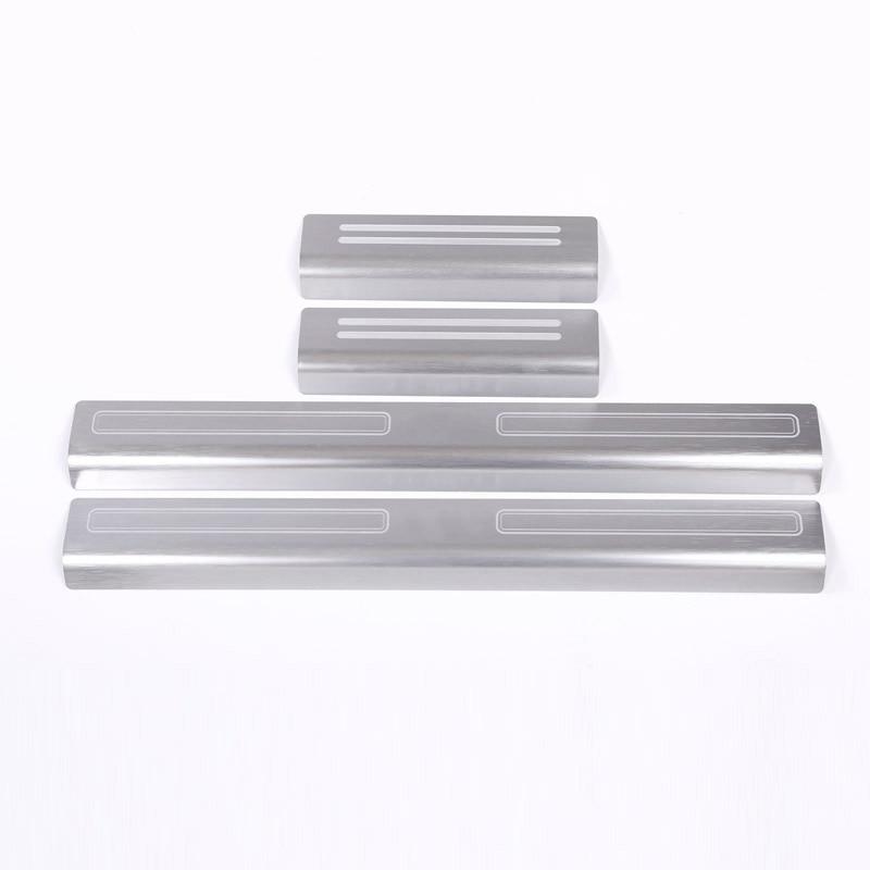 4pcs Aluminum alloy Original Exterior Door Sill Scuff Threshold Protector Plate Cover Trim For Land Rover