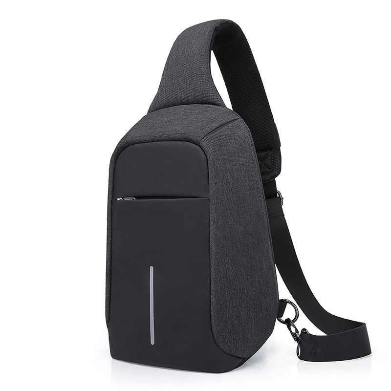 dc813ecaddd KAKÁ USB Bolso de la Honda para Mujeres de Los Hombres de Pecho Bolsa  Grande capacidad