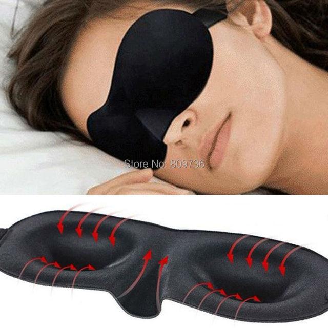 1X Путешествия Отдых 3D Губка МАСКА Для Глаз Черный Спальный Маска Для Глаз крышка для здравоохранения, чтобы оградить свет Подарок Свободный Корабль