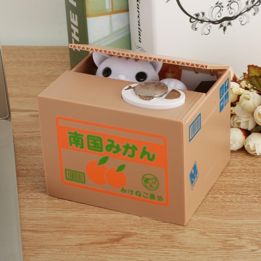 Nosii Mignon Automatique D'argent Chat Panda Voleur De Stockage Coin Voler Boîte Jouet Tirelire Boîte D'économie Tirelire Cadeaux pour Enfant