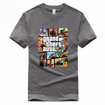 Hombre Theft Juego Gta Camiseta Camisetas Algodón Grand De Ciudad 5 Auto Vicio HommeGmt005 8w0OkPXn