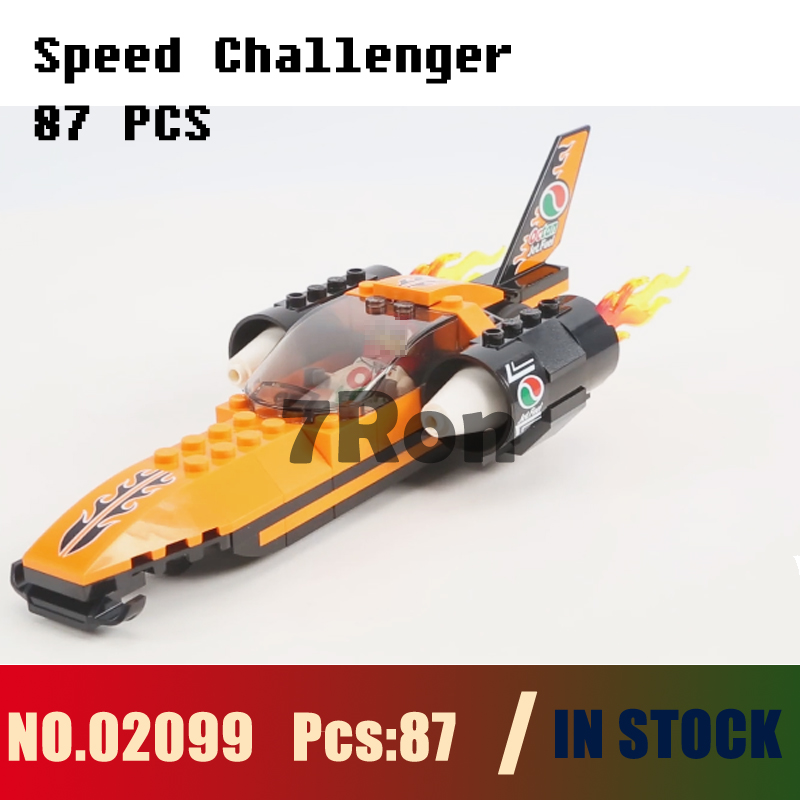 Compatible with lego City 60178 Models building toy 02099 87Pcs City Speed Challenger Building Blocks toys & hobbies