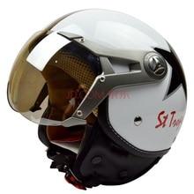 Free shipping, BEON B100 open face 3/4 motorcycle motorcross Casco Capacete helmet, outer visor, Jet Vintage retro helmet, ECE
