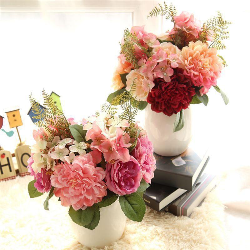 Online Get Cheap Dahlia Wedding Bouquets Aliexpresscom Alibaba