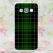 656J Green and Red Scottish Tartan Hard White Case Cover for Galaxy A3 A5 7 8 J5 7 & Note 7 5 4 3 2 & Grand Prime