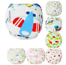 1Pcs Cute Baby Cotton Training Pants Baby Reusable Diapers Cloth Diaper Washable Infants Nappies Diapers