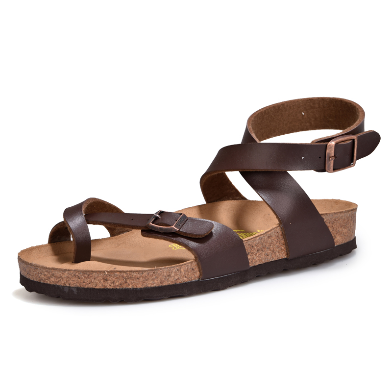 Fashion Toe Protect Men Sandals Genuine Leather Soft Sole Casual Shoes High Quality comfortable beach