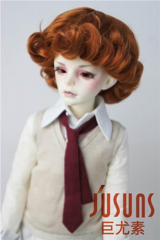 JD369 1/4 MSD парики для шарнирных кукол модный кудрявый парик 7-8 дюймов BJD синтетический, мохеровый, для куклы парики кукольные аксессуары - Цвет: Light Carrot SM8