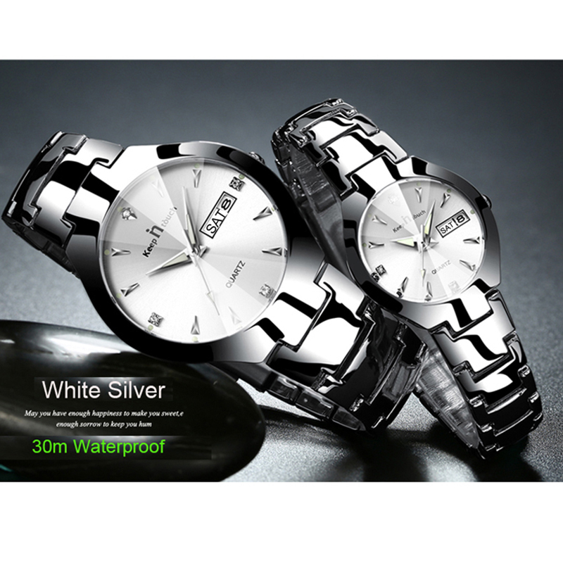 KEEP IN TOUCH Brand Luxury Lover Watches Quartz Calendar Dress Women Men Watch Couples Wristwatch Relojes Hombre 2019 With Box