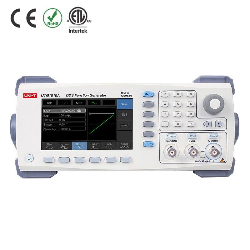 Uni T UTG1010A 10 MHZ DDS fonction générateur de Signal de forme d'onde arbitraire générateur, 125 MS/s taux d'échantillon, Interface USB, 4.3 ''TFT LCD,