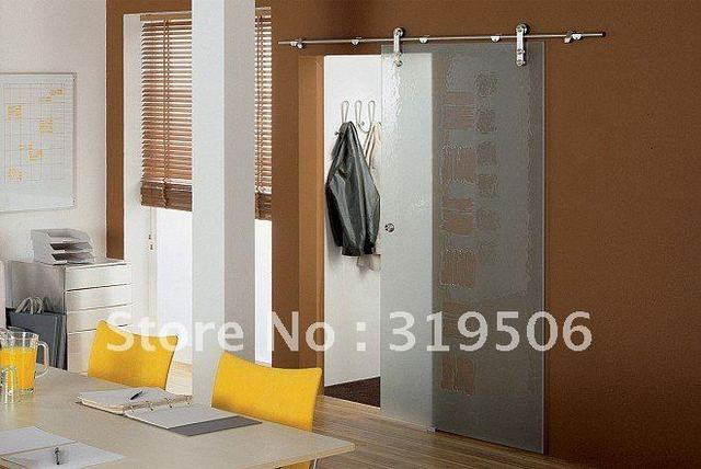 Elegant Interior Glass Barn Door Hardware With Free Shipping In