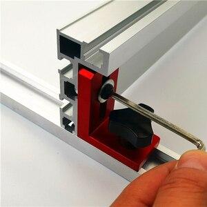 Image 2 - Clôture de profil en Aluminium, 600/800mm, 75mm de hauteur, rails en T et supports coulissants, connecteur de clôture pour menuiserie