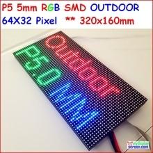 P5 уличный полноцветный светодиодный модуль, SMD 2828 IP65 светодиодный рекламный экран высокой яркости, 1/8 сканирование, 64*32 P, наружный СВЕТОДИОДНЫЙ экран