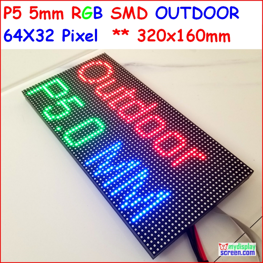p5 outdoor full color led module, SMD 2828 IP65 high brightness advertising led screen, 1/8 scan,64*32 P,outdoor LED Panel ...