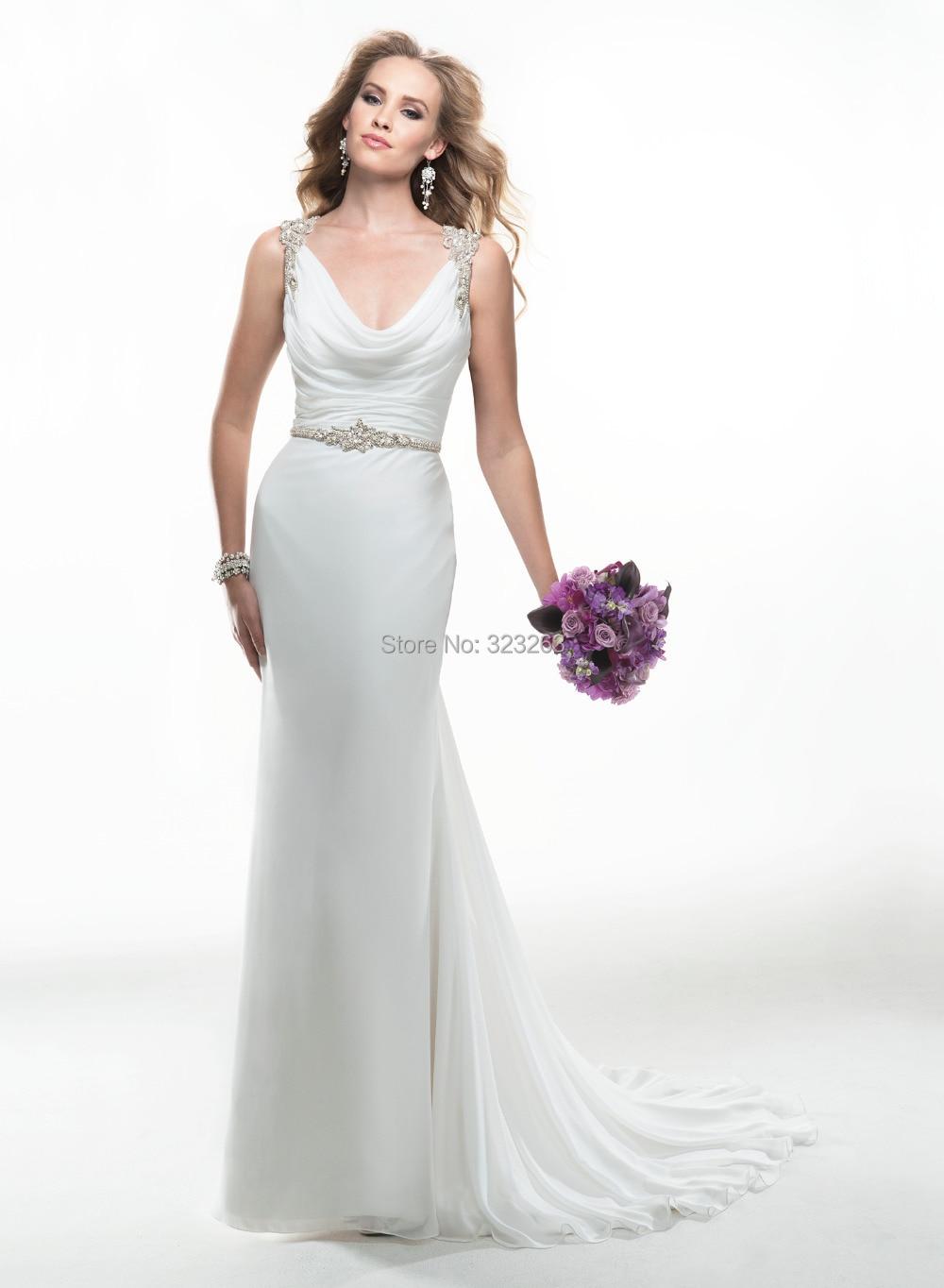 simple wedding dress collection cowl neck wedding dress 2