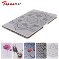 TopArmor Pad 2/3/4 High Quality Heart Tribe 4 Credit Card Slots Folio Leather Case With Stand For iPad 2/3/4