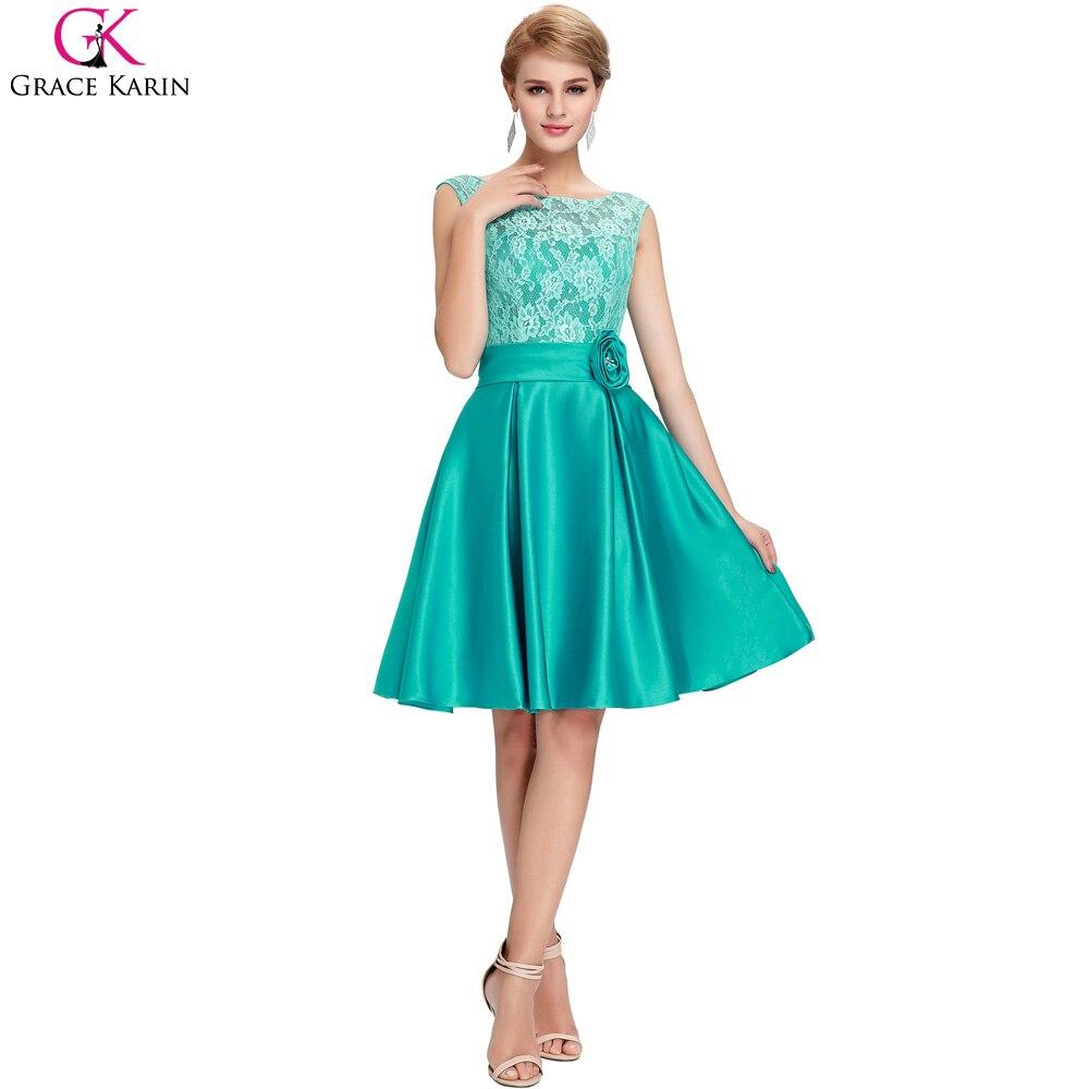 Grace karin vestidos de azul sin mangas de encaje satinado madre de ...