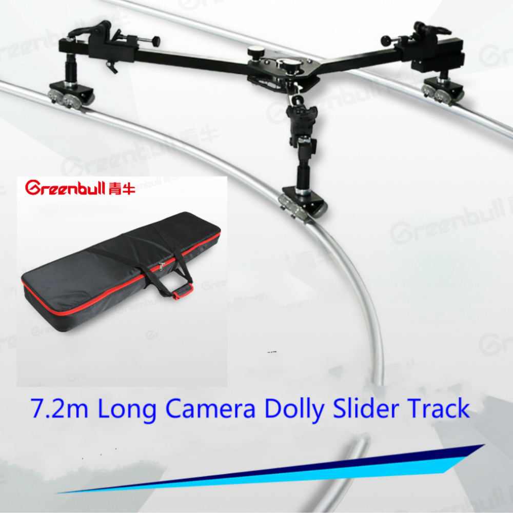 GreenBull Vidéo camra Curseur Dolly 7.2 m caméra piste MAX Charge 30 kg Portable curseur piste pour HDV Vidéo film HDSLR