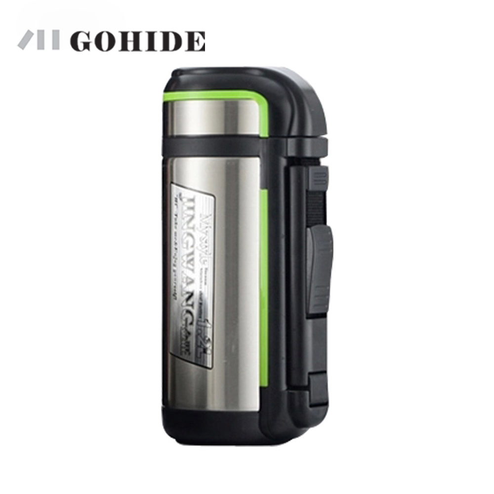 JUH 1pcs 1.8L large Stainless steel thermal pot hot water bottle travel thermos flask vacuum tea cup kitchen water bottle
