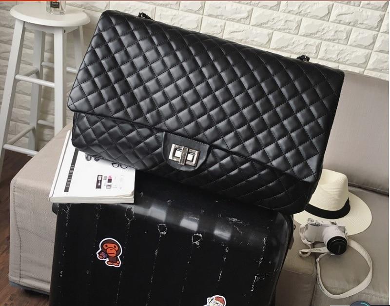Caker для женщин большой большие сумки граффити Вышивка цепи сумки на плечо письмо ромбовидная решетка черный контраст цвет дорожные сумки