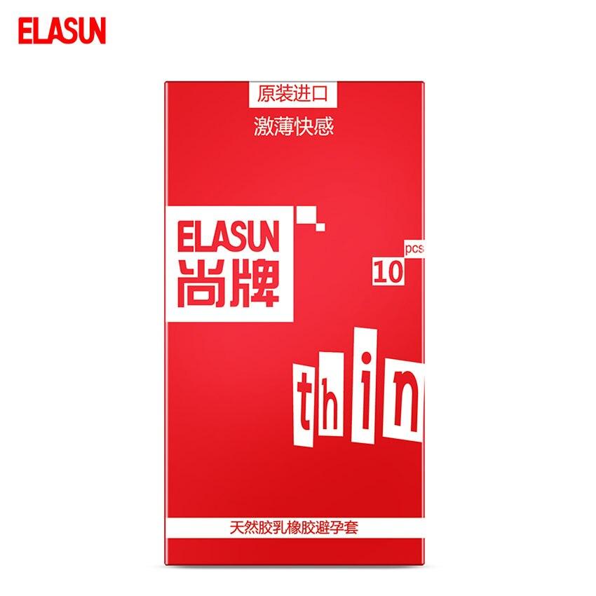 ELASUN 10 pcs Stimulation Ultra Thin Pleasure font b Condoms b font Safer Sex Fun Type