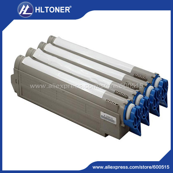 4pcs/set Remanufactured toner cartridge (42918928 42918927 42918926 42918925) for OKI ES3640 ES3640e