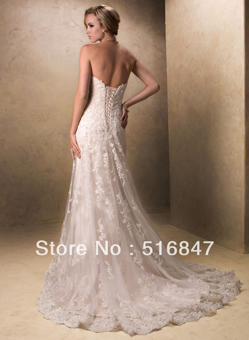 High Quality New White Ivory Mermaid Wedding Dresses Strapless Stock ...