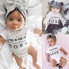 Newborn Babies MINI Boss Bodysuits Infant Baby boys girls Letter Bodysuit Clothes Cotton Bodysuit Jumpsuit Outfit Clothing