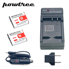2Packs DSC-T100 Li-ion Camera Battery 3.7V 1500mAh +Battery Charger+Car Charger For SONY DSC-T20 DSC-W300 DSC-W200 W100