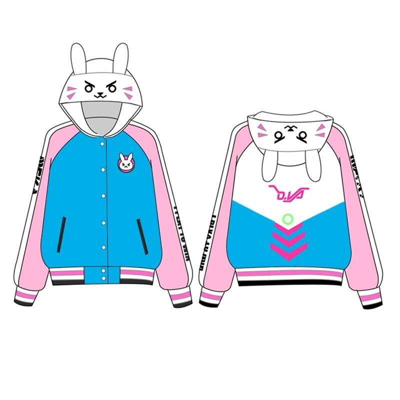 Haute qualité D. VA Cosplay Costume de fête mode sweats à capuche D VA vestes femmes Sport manteau pour cadeau de noël