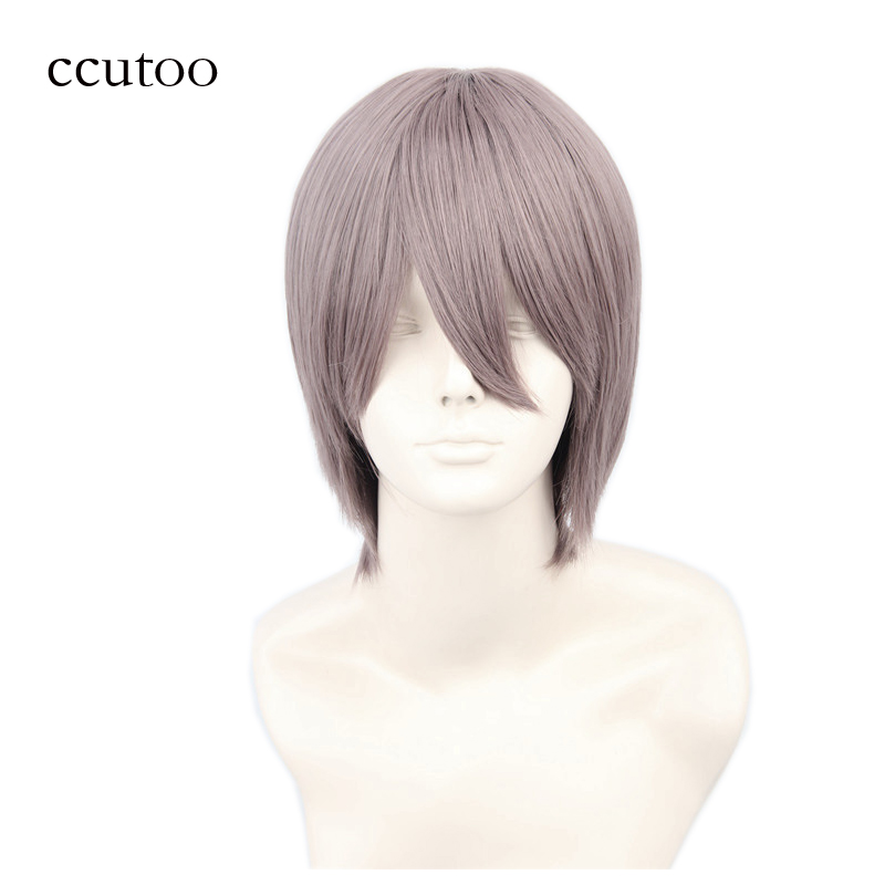 ccutoo Aikawa Ayumu 12inch short straight synthetic wig heat resistance costume cosplay full wig