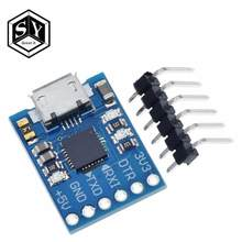1 pces ótimo cjmcu cp2102 micro usb para uart ttl módulo 6pin conversor serial uart stc substituir ft232 novo para arduino