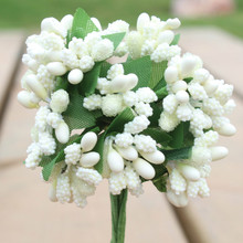 Artificial Bud Stamen Berry Beads Flowers for Home Garden Wedding Decoration Diy Scrapbooking Decorative