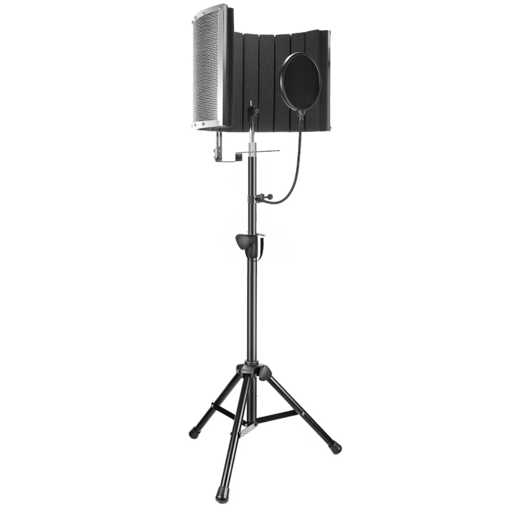Neewer Professional Microphone Studio Recording Accessories:NW-6 Microphone Isolation Panel+Wind Screen Bracket Stand+Pop Filter 2012 2013 recording studio directory
