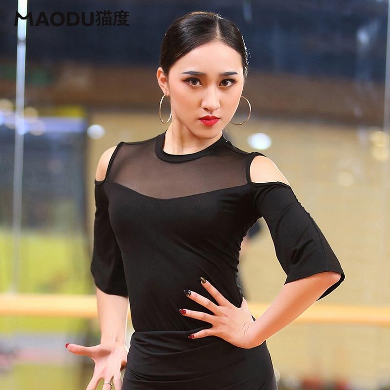 Lady Latin Dance Shirt Women Half Sleeve Modern Dance Blouse Boutique Fashion Rumba Dance Blouses Rumba Jacket Samba Suit D-0673