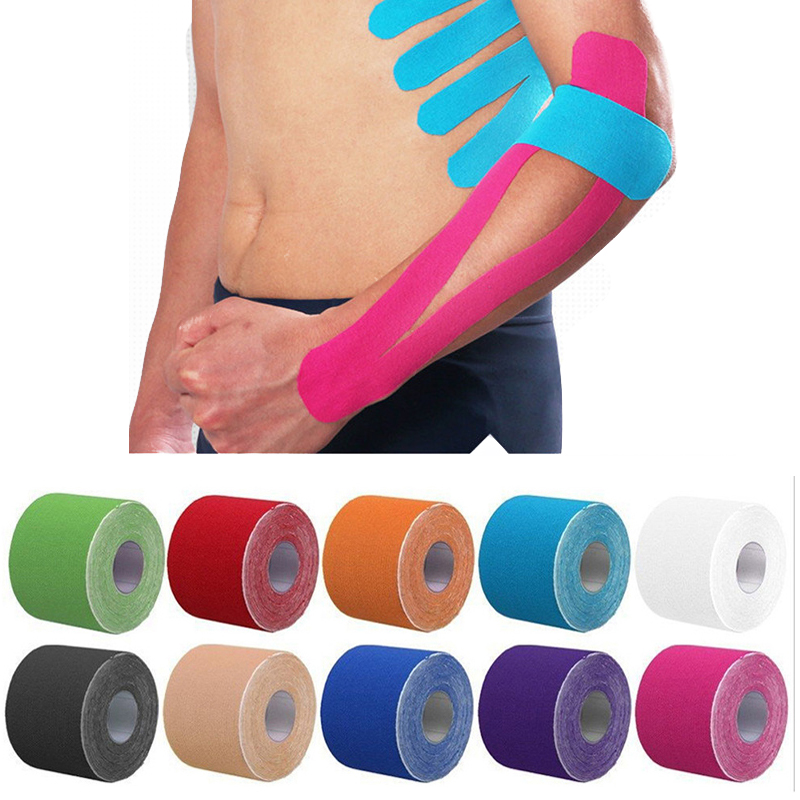 2 Size Kinesiology Tape Perfect Support for Athletic Sports, Recovery and Physiotherapy Kinesiology Taping(China)
