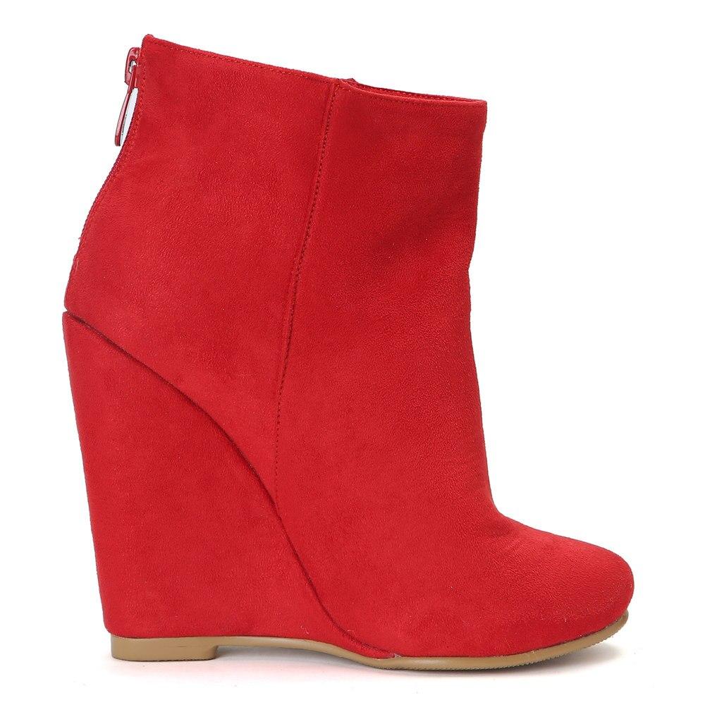 L'intention Élégant Rond 415 Rouge Chaussures Plus Haute Red Super Mode Nous Genou Bottes Coins Femme Bout Initiale Ef1495 Taille Femmes OZiXPwTuk