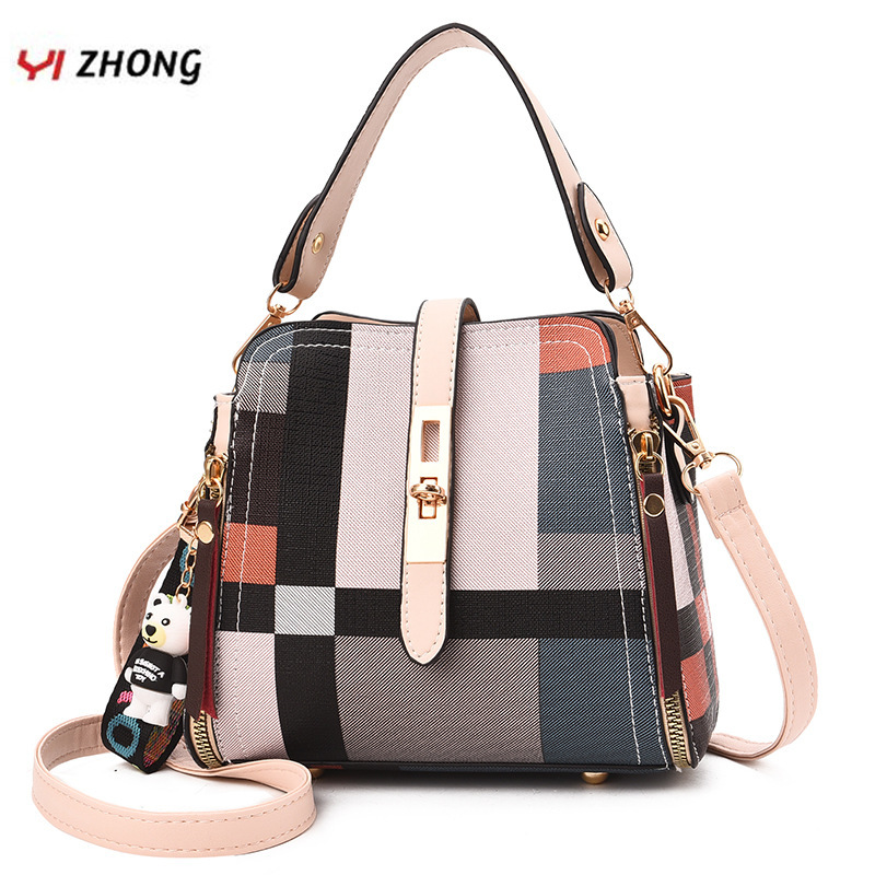 YIZHONG Fashion Women Bag Leather Handbags Bucket Shoulder Bag Large Capacity Crossbody Bags For Women Messenger Bags