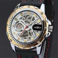 VENCEDOR Marca de Topo Mens Relógio de Pulso De Borracha Homens Relógio Mecânico Automático de Negócios de Luxo Relógios Militar Esporte Relógio de Presente 081