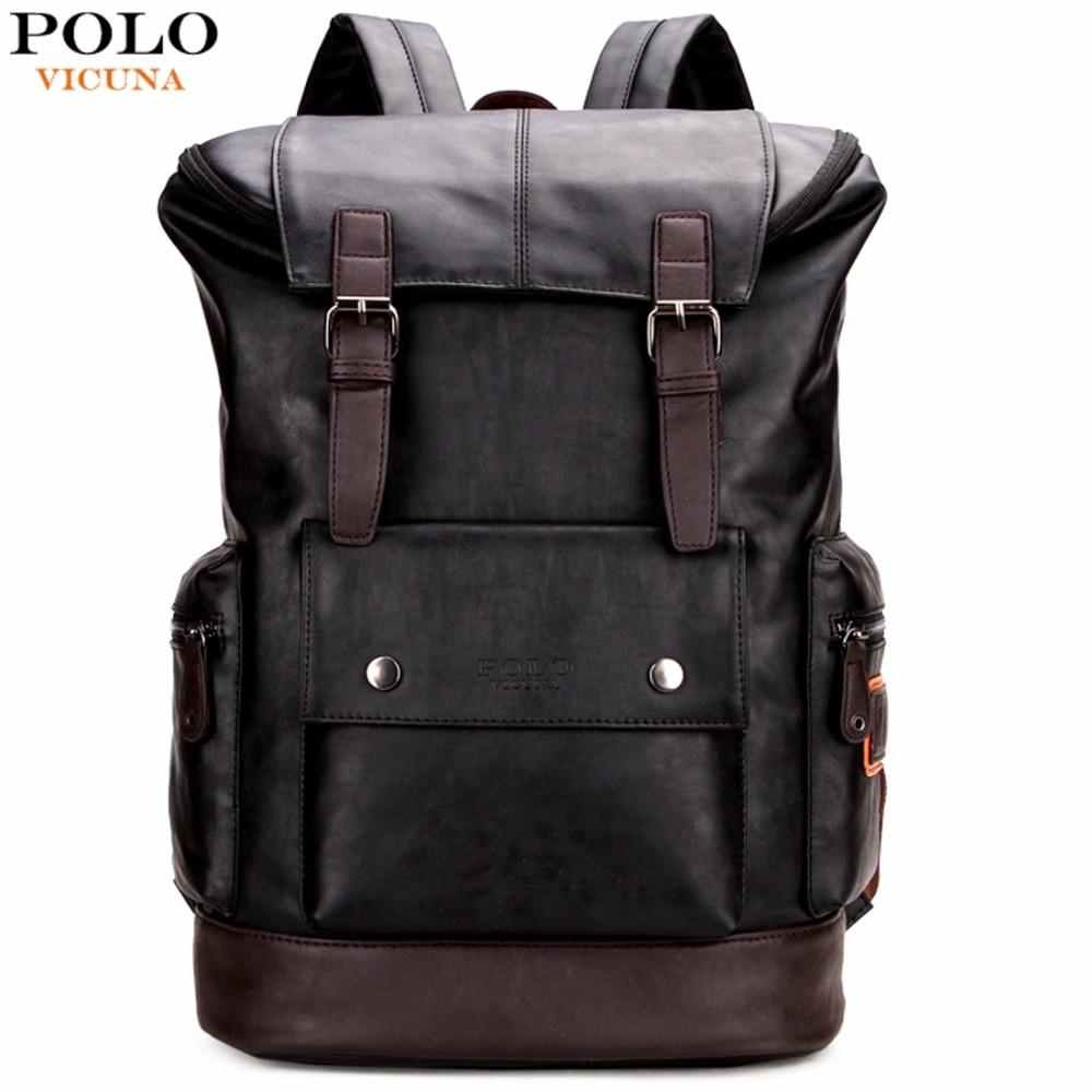 Викуньи поло простой Лоскутная большой Ёмкость Для мужчин s кожаный рюкзак для путешествий Повседневное mochila Для мужчин Daypacks кожа Travle Рюкза...