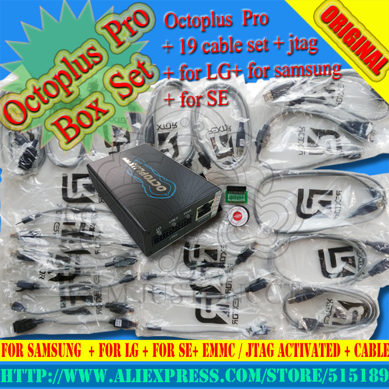 2018 Original New OCTOPLUS PRO BOX for sam and lg +se + JTAG cables + Free  shipping
