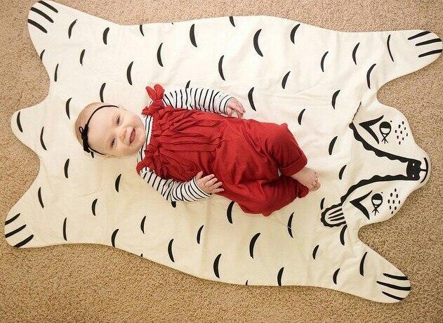 8 видов стилей модное мягкое детское одеяло игровой коврик детское одеяло-плед в виде медведя Тигр пеленальный коврик животных ковер теплый медведь игровые коврики осень-зима