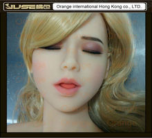 NEW sleeping beauty oral sex soft doll head with tougue,cyberskin soft head for love doll,girl head oral sex masturbators,HD-018