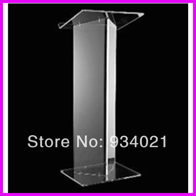 Clear Acrylic Podium Pulpit Lectern / Acrylic Table Top Lectern Podium Plexiglass