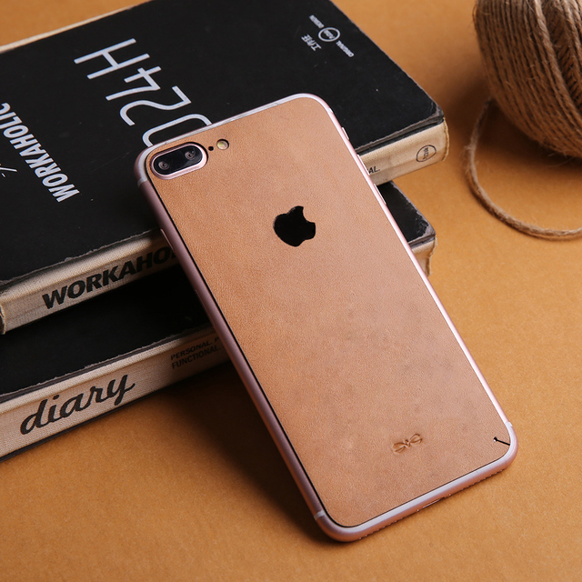 Luxury genuine leather full back skin sticker for apple iphone 6s 6plus high quality for