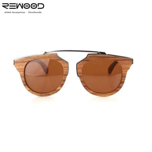 2017 Rewood Marca Óculos De Sol Retro Mulheres Óculos De Sol De Madeira Polarizada Lente Do Vintage Óculos oculos de sol das mulheres