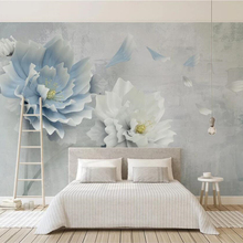 beibehang Custom wallpaper 3D solid murals new creative new Chinese embossed peo
