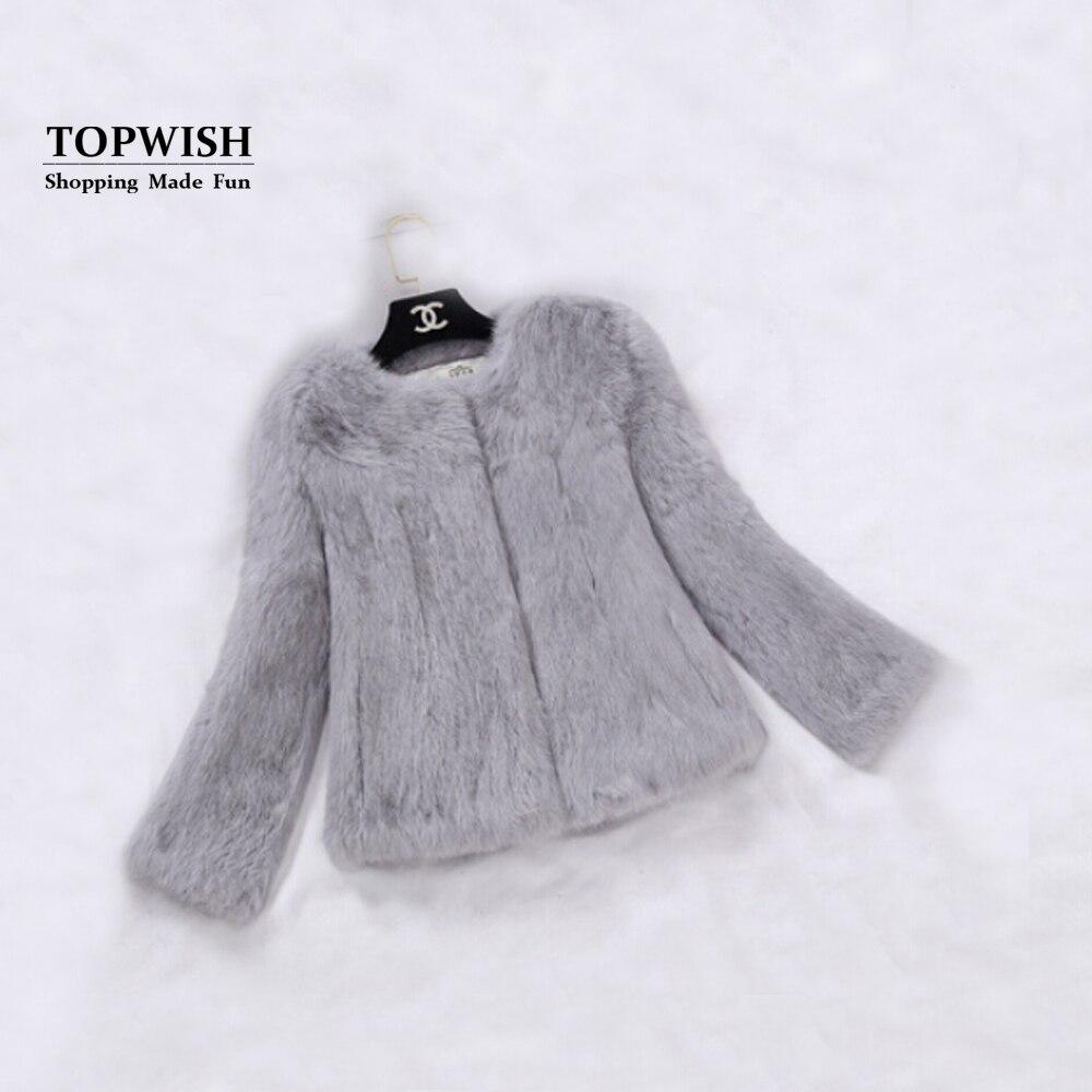 2018 New Real Full Pelt Rabbit Fur Coat 100% Pure Whole Skin Rabbit Fur Jacket Factory Wholesale Retail Discount TFP820