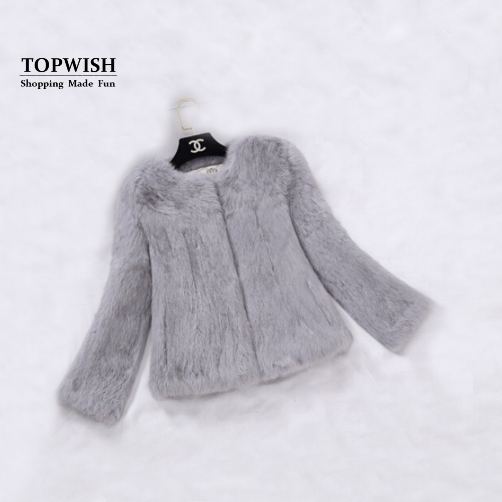 2019 New Real Full Pelt Rabbit Fur Coat 100% Pure Whole Skin Rabbit Fur Jacket Factory Wholesale Retail Discount TFP820-in Real Fur from Women's Clothing    1